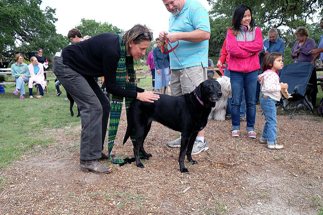 "Celebrating St. Francis with "" Blessing of the Animals"" day.   Rev. Carmen Retzlaff is pastor at   New Life Lutheran Church   in Dripping Springs, TX. Her congregation worships outdoors and loves it. Learn more at   NewLifeDrippingSprings.org"