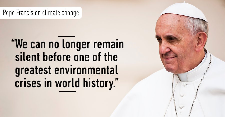 One Holy See Thing:  The Pope Urges All Catholics To Divest From Fossil Fuels