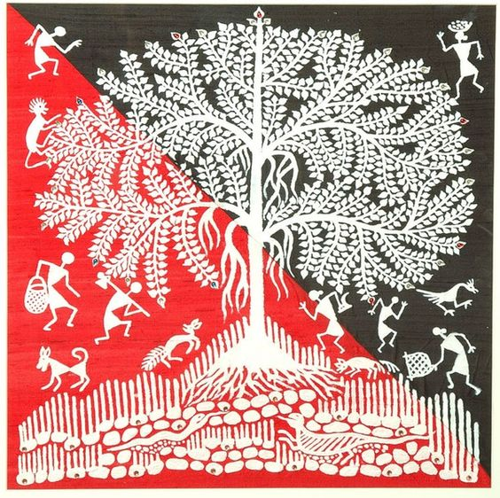 Traditional  Warli  folk art.