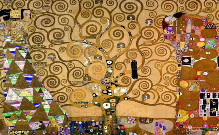 Austrian  symbolist  artist  Gustav Klimt  portrayed his version of the tree of life in his 1909 painting,   The Tree of Life, Stoclet Frieze  .