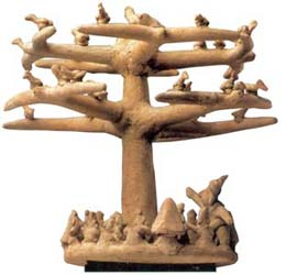 A world tree carving.