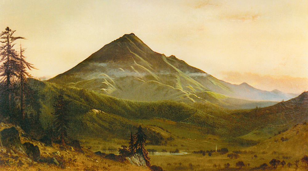 Painting of Mt. Tamalpais  from 1870 .