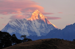 Nanda Devi , India's second-highest mountain, is located in Uttarakhand.