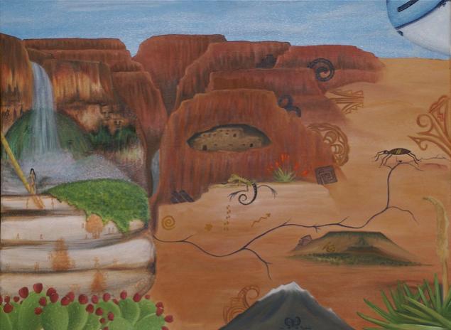 Mallery Quetawki,  Grand Canyon , 2008.