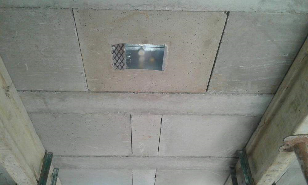 Cobute supplied galvanized boxes for downlighters.