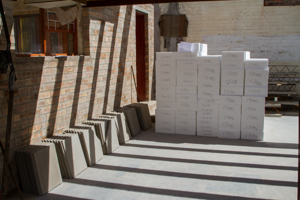 polystyrene blocks arrive to site already cut to allow no wastage