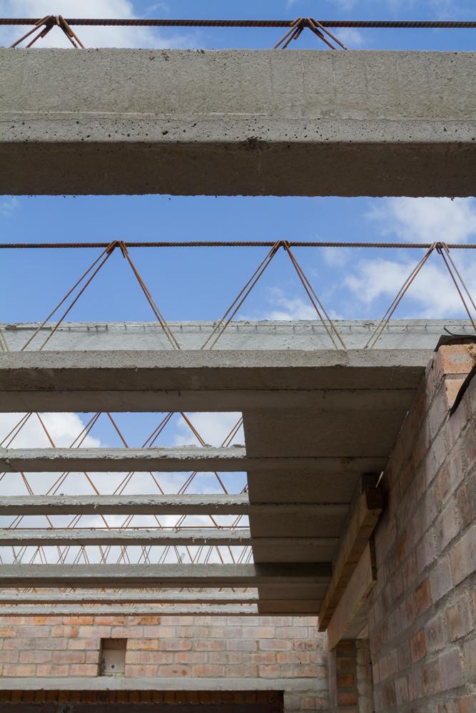 precast concrete ribs and panels interlock with precision