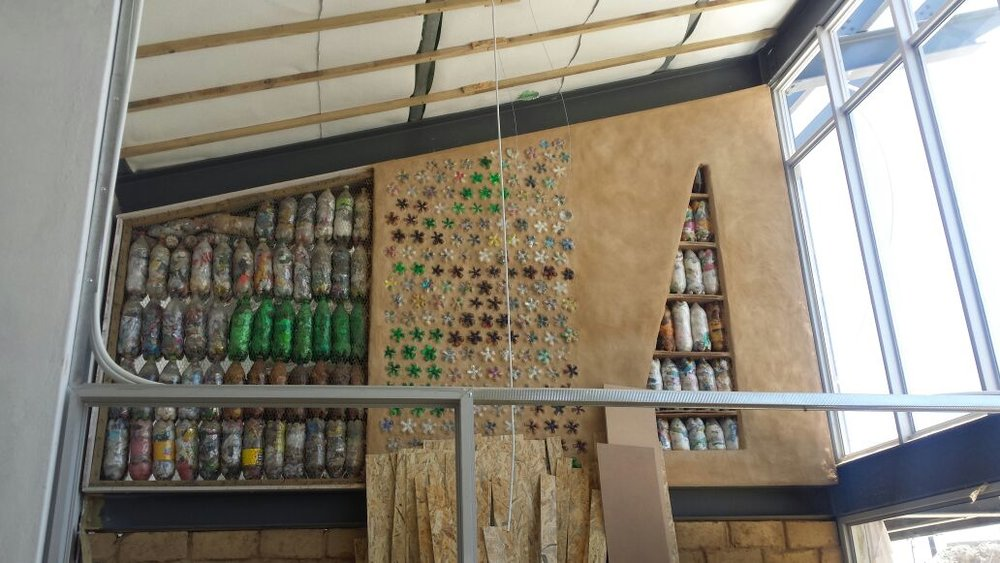 There are different ways of installing the Eco Bricks