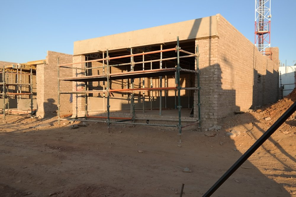 Double garage beam installed before casting.