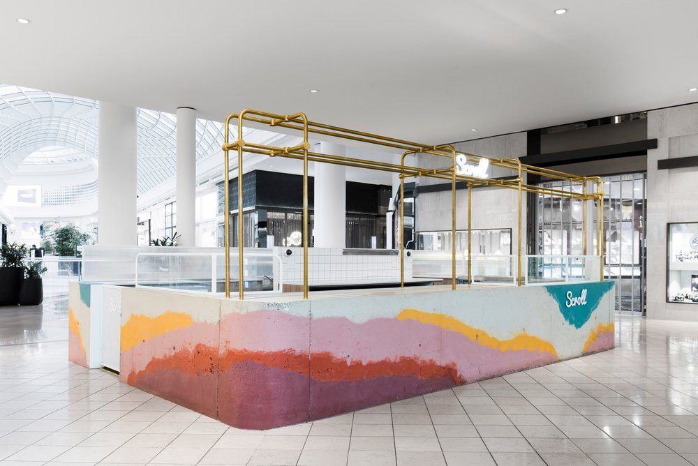 Scroll ice-cream counter by Studio Twocan and One Design, Melbourne.
