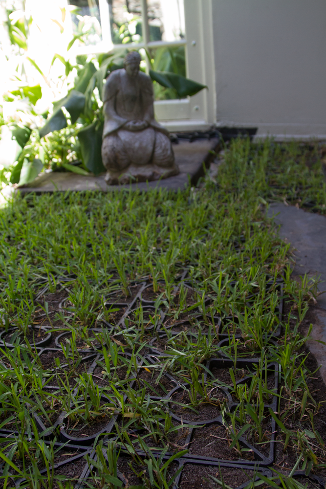 Geoflor grids protect the garden by turning it into a walkable surface.