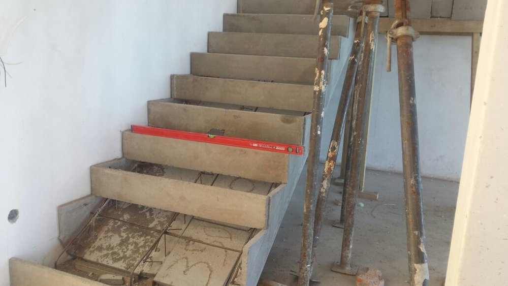 Cobute precast stairs after installation.