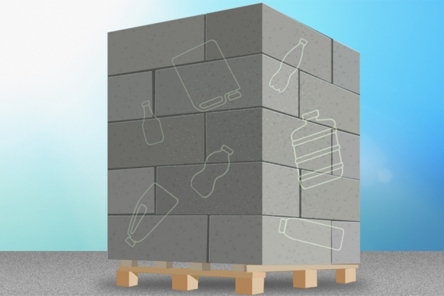 """""""Our technology takes plastic out of the landfill, locks it up in concrete, and also uses less cement to make the concrete, which makes fewer carbon dioxide emissions,"""" says assistant professor Michael Short.Image: MIT News"""