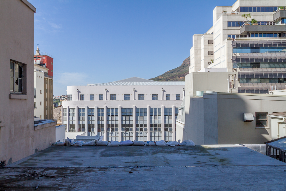 Top View of the Cobute slab on Parliament Street, in the heart of Cape Town. ©David Peter Harris/Cobute