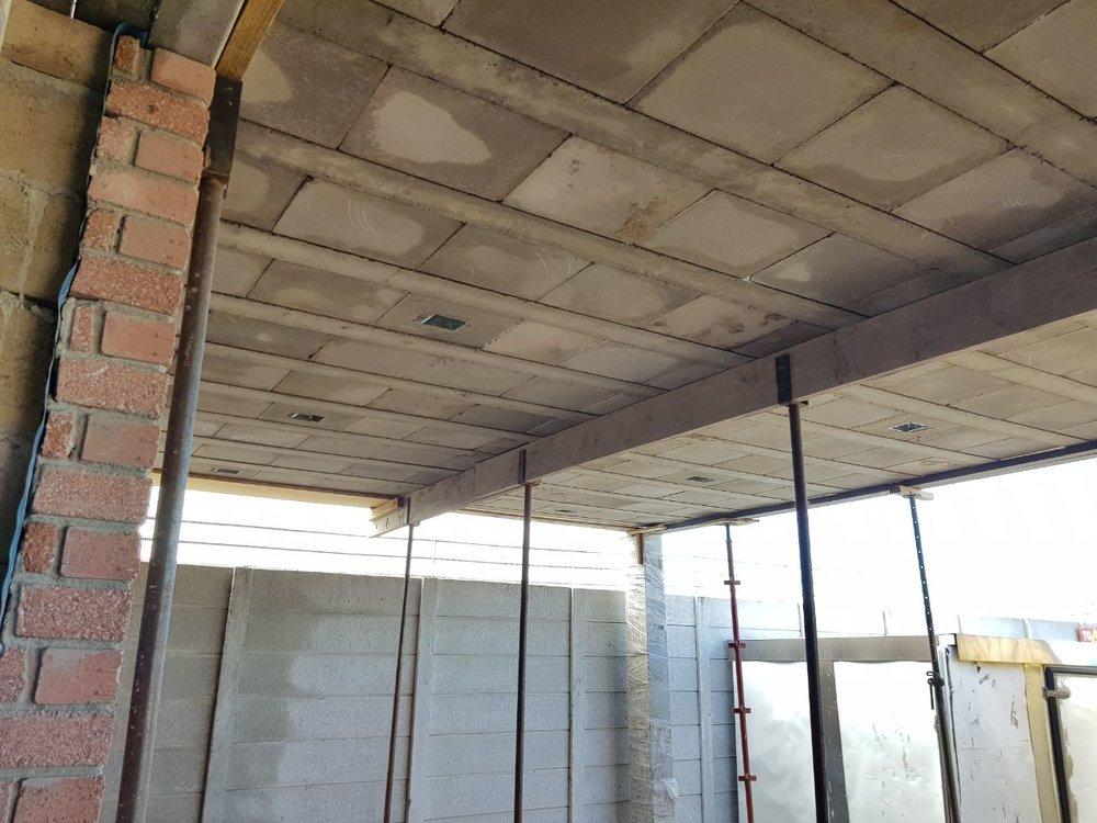 Cobute precast slab before the concrete pour.
