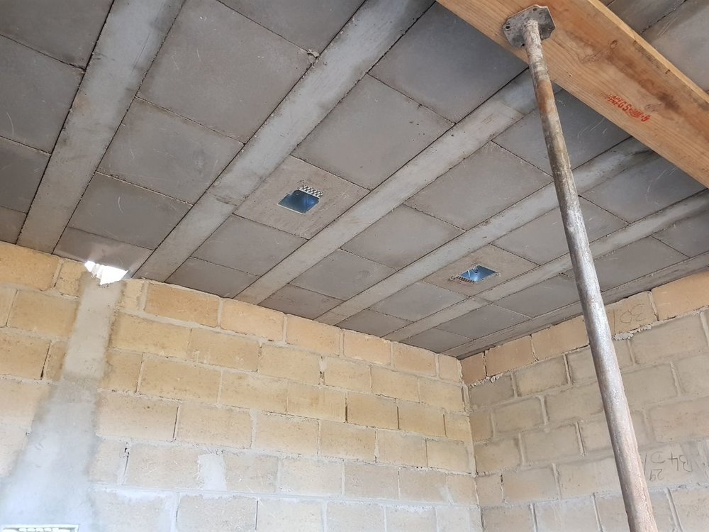 Galvanized boxes were supplied to ease the installation of electrical services.