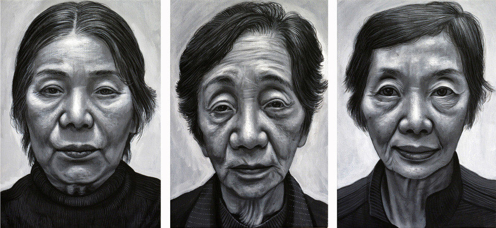 Hibakusha Triptych (Survivors of the Atomic Bomb Hiroshima)