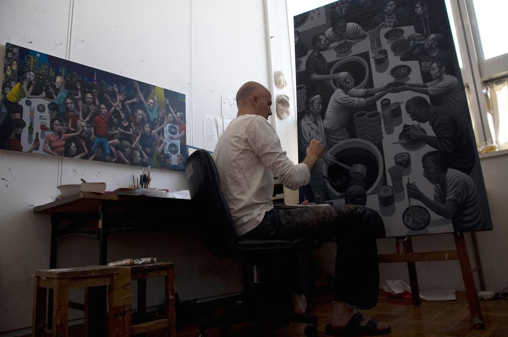 Carl Randall artist studio.
