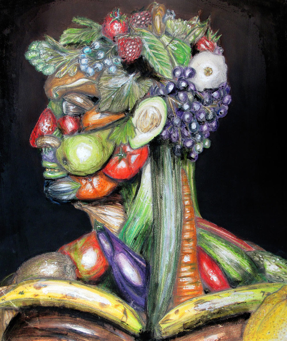 Portrait of a Man (in the style of Giuseppe Arcimboldo)