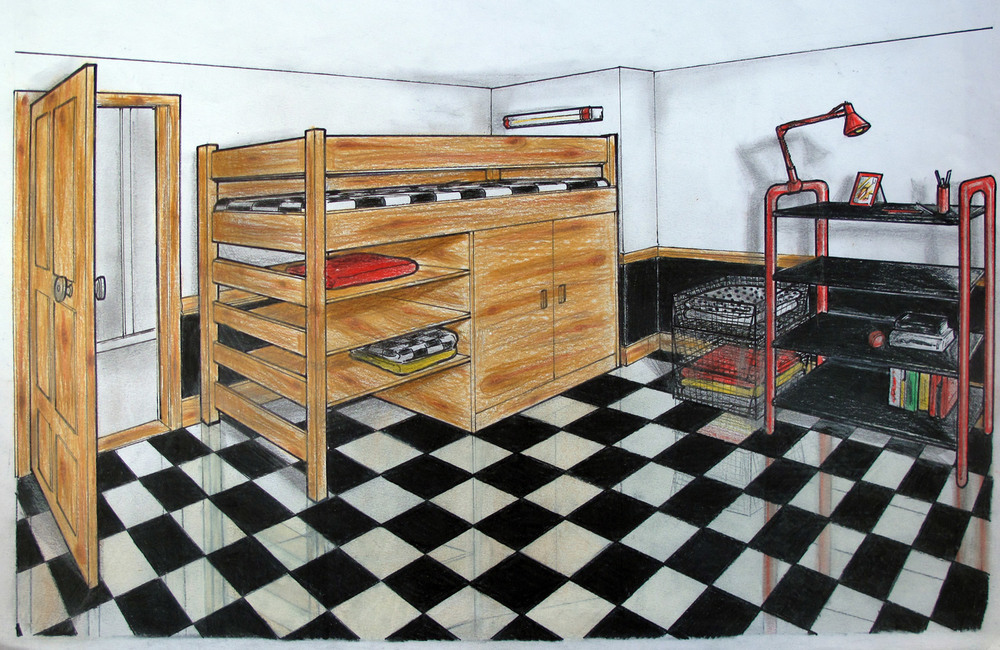 Imagined Checkered Interior