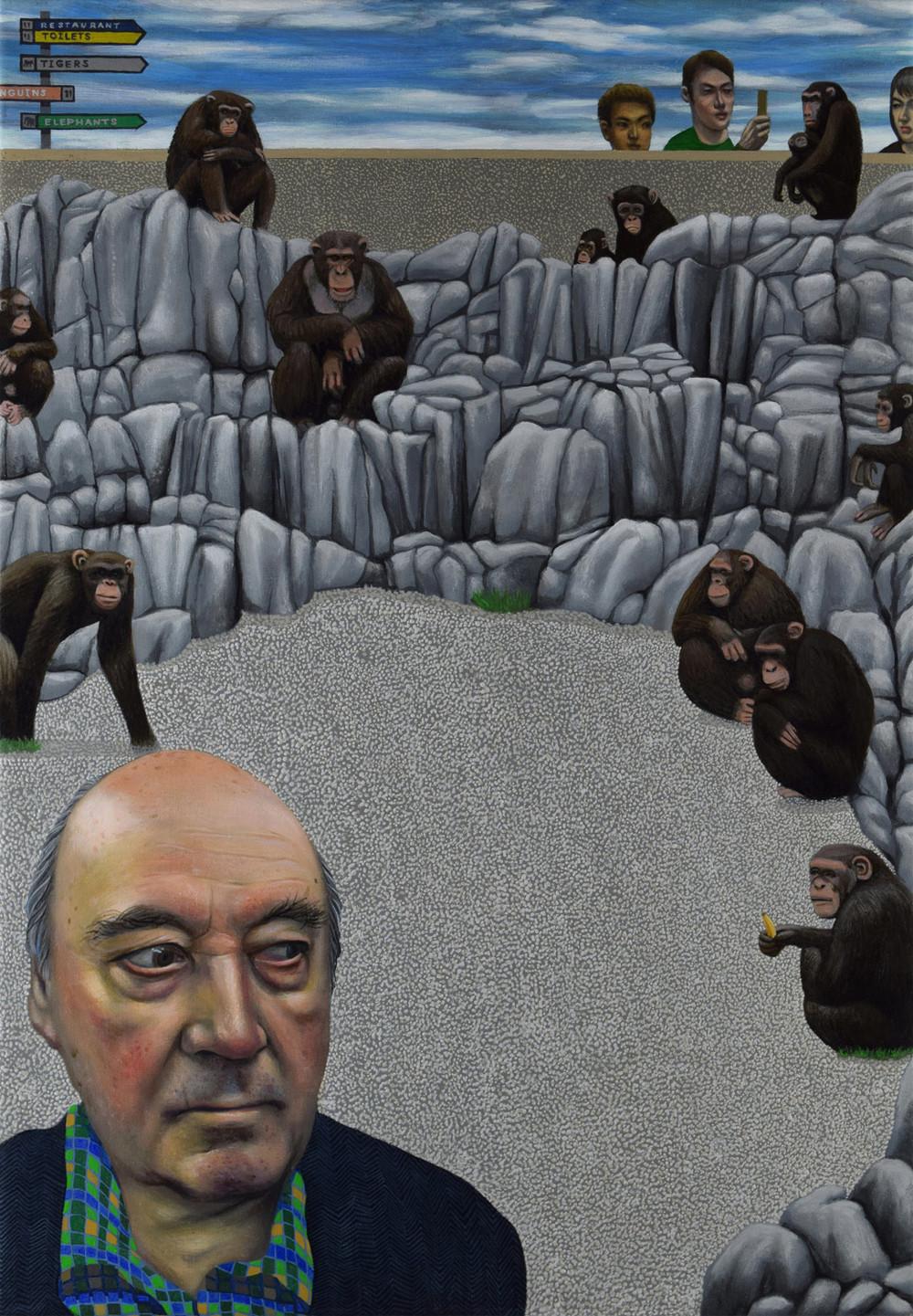Zoologist Desmond Morris and The Monkey Pen