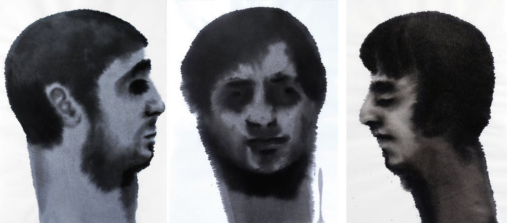 Ink Head Triptych