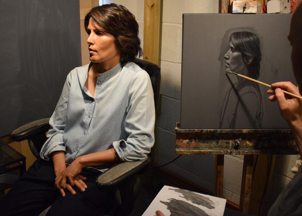 Painting singer songwriter Tanita Takaram