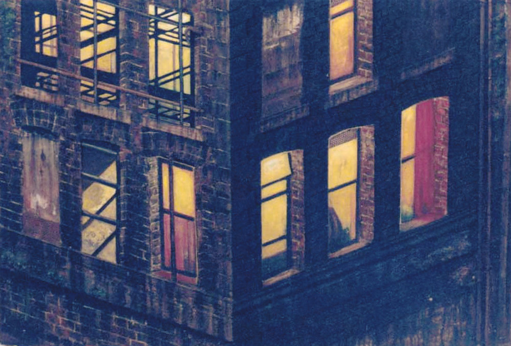 Windows at Night (Relief Study)
