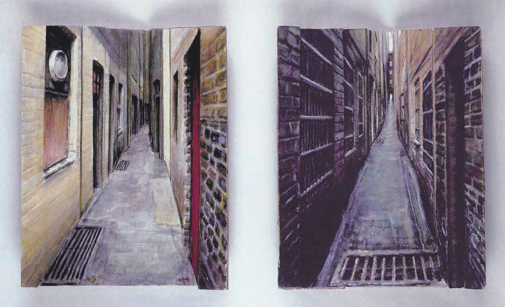 Studies for an Alleyway (Diptych)