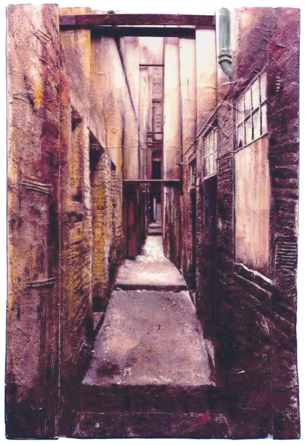 Study for 'Alleyway' (relief construction)