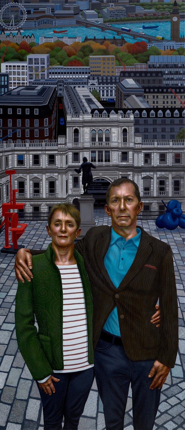The Gildons in London (Andy & Kath at the RA)