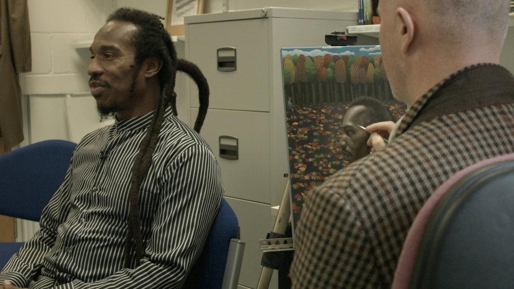 Portrait sitting with Poet Benjamin Zephaniah