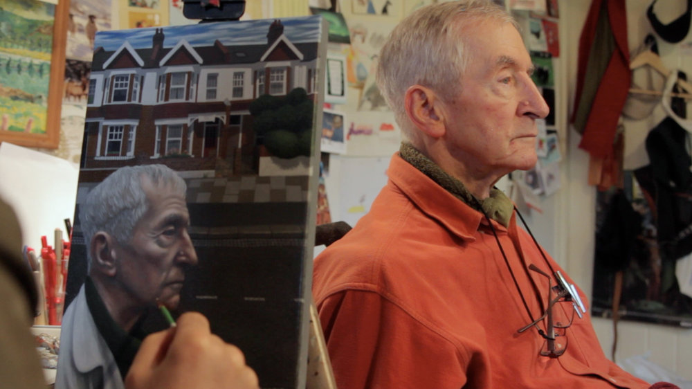 Portrait sitting with Author/Illustrator Raymond Briggs