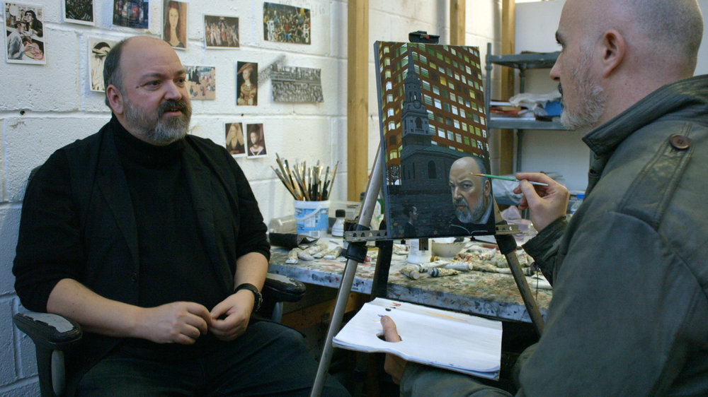 Portrait sitting with Illustrator Dave McKean