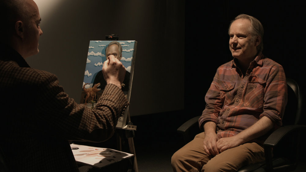 Portrait sitting with Animator Nick Park