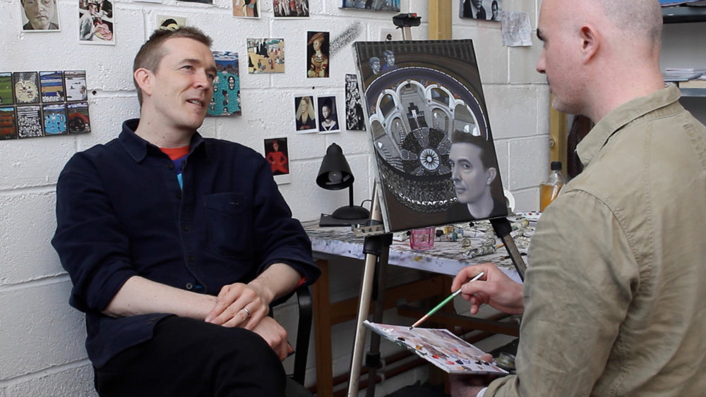 Portrait sitting with Novelist David Mitchell
