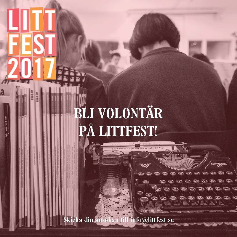 *example of poster for Literature Festival in Umeå from Facebook.