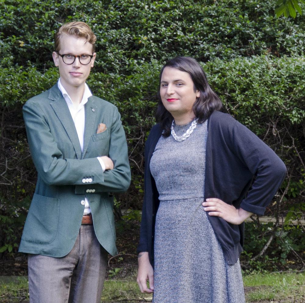 Adam och Paloma är samordnare för studiemiljö och lika villkor på Stockolms universitets studentkår.