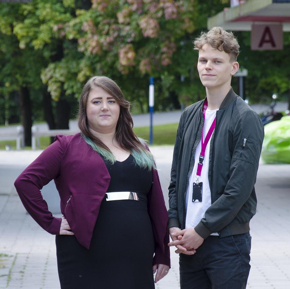 Kårens presidium : Vice ordförande Stefanie Tagesson och ordförande Henric Södergren