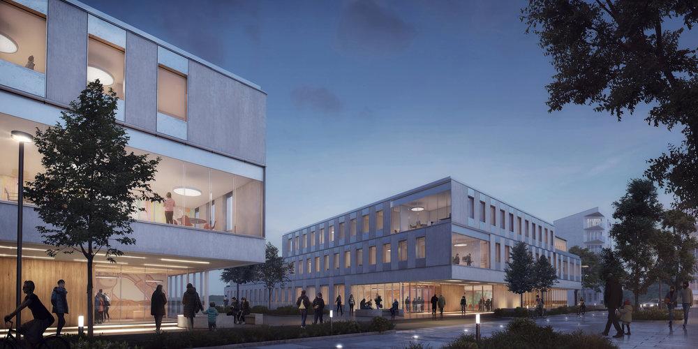 Campus Albano hus 2 och 4.  Källa: Christensen & Co. Arkitekter