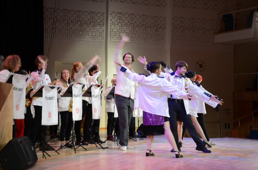 Student Orchestra on stage