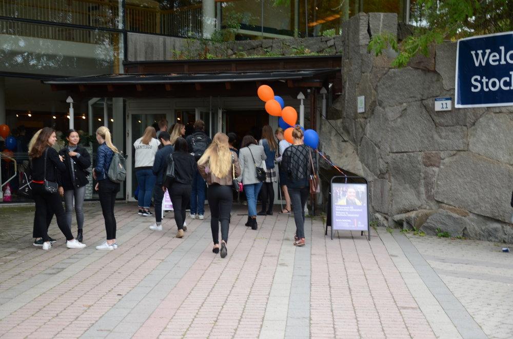 Students outside Aula Magna