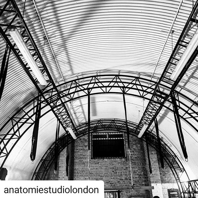 I am so excited to see @anatomiestudiolondon Are up and running with their new space. I was involved as a consultant on the project but it was their amazing determination that got their railway arch renovated in such a short time.  #Repost @anatomiestudiolondon • • • Here's a little fun fact about our trussing: the trussing is composed of 3 arches connected by 8 additional trusses. The structure's design was a collaborative effort by us, the trussing company and our friend @conor.scully.  It is a custom structure, made to fit perfectly along the curvature of the space while avoiding touching the walls. It is powder coated in a black mat finish.  The structure is designed to support 6 dynamic aerial circus acts simultaneously.  We hired a structural engineer company to work with the trussing company to finalise the design based on our needs. At its highest point the structure measures around 4.8 meters. The structure is fully signed off by engineers and insured. (And yes... it cost us a fortune). The structure is technically 'permanent' but can be dismounted and transported.  We chatted to numerous circus performers about their industry standards regarding loading requirements. Using circus as a standard means we went well above and beyond in terms of safety for what we use in shibari and this opens the door for circus artists to use the space/hire the space.  It also means we are able to insure the space and the structure in ways we would never be able to with wood.  Additionally our black straps are rated for circus loads meaning they each support 4t (and 1.6t in the larks head configuration). 🌷  #anatomiestudio #londonrope #architecture #interiordesign #londonist #bespokekitchen #minimal #interiors #refurbishment #kitchendesign  #detailing #blackandwhite #archdaily