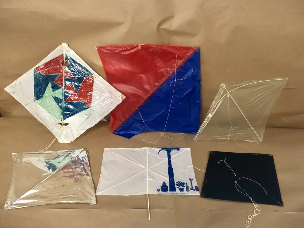 Single-line manuverable kites can be light enough to fly indoors or strong enough to fly in 15 mph winds.