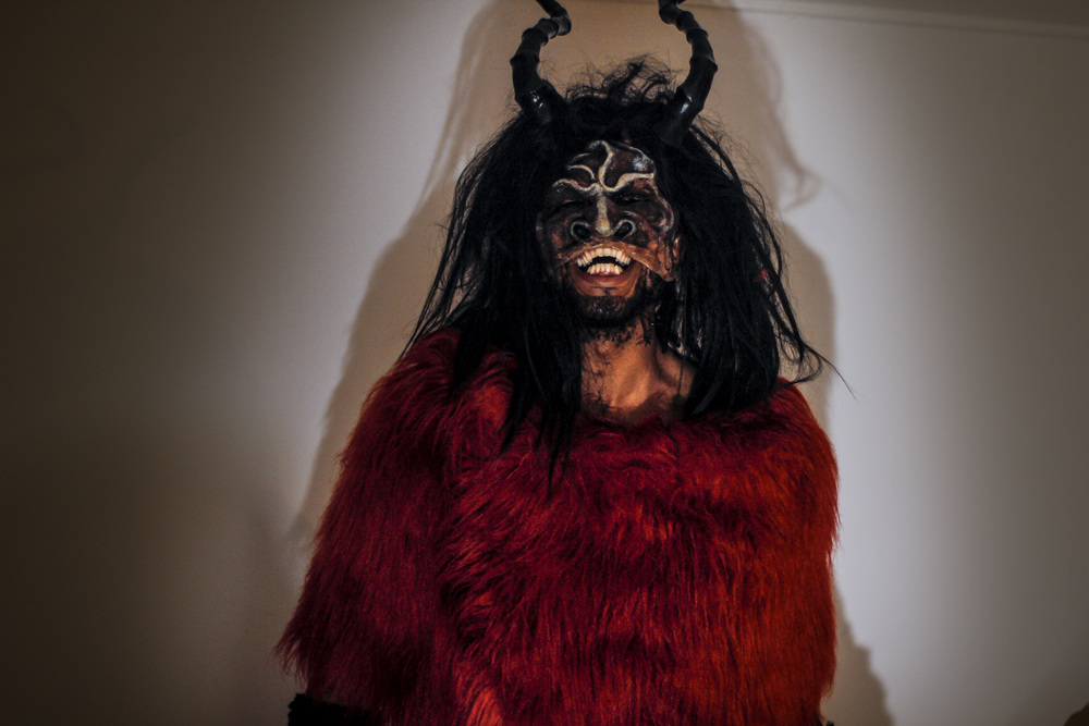 Krampus (2014) masks for Krampuslauf Rotterdam 2014