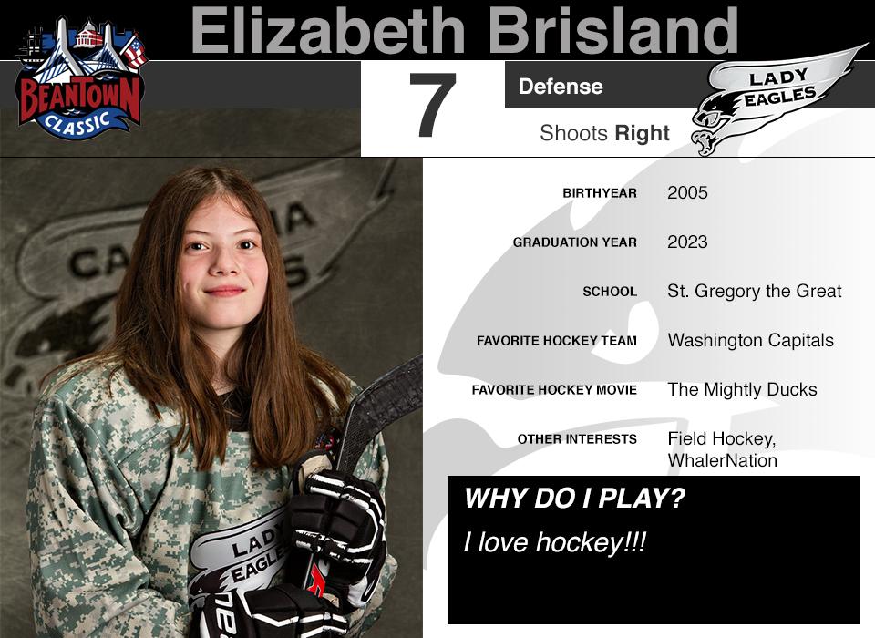 #7 Elizabeth Brisland