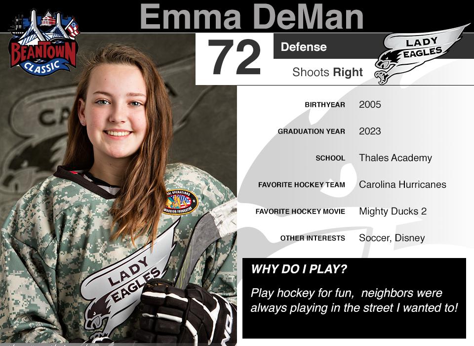 #72 Emma DeMan