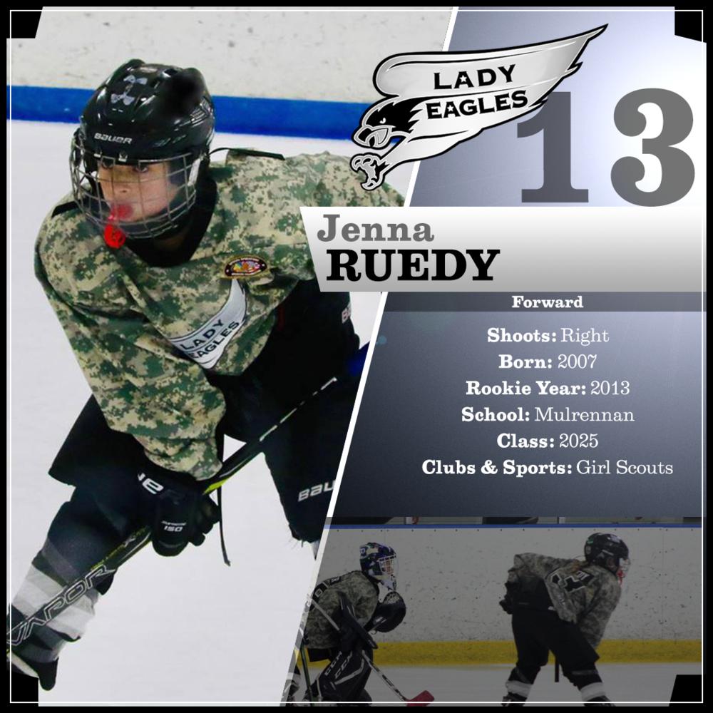 #13 Jenna Ruedy