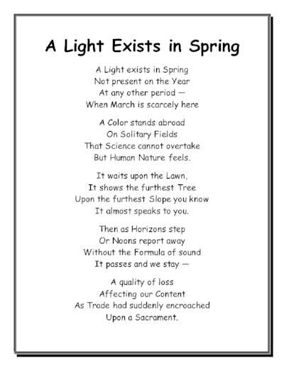 poems for spring judy fogarty