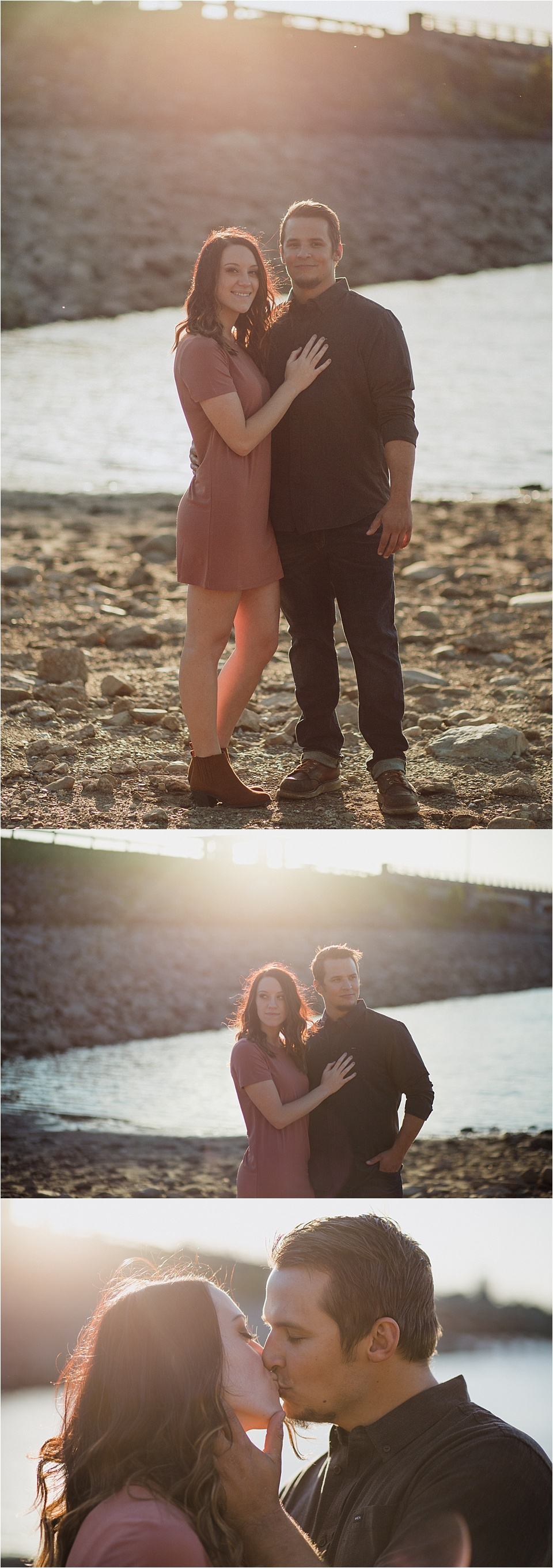 Columbus, Ohio wedding photographer. Sunset engagement session at the Hoover Dam